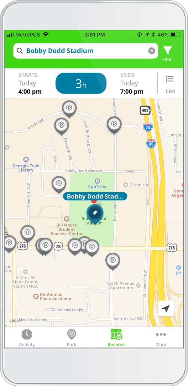 Bobby Dodd Stadium Parking - ParkMobile