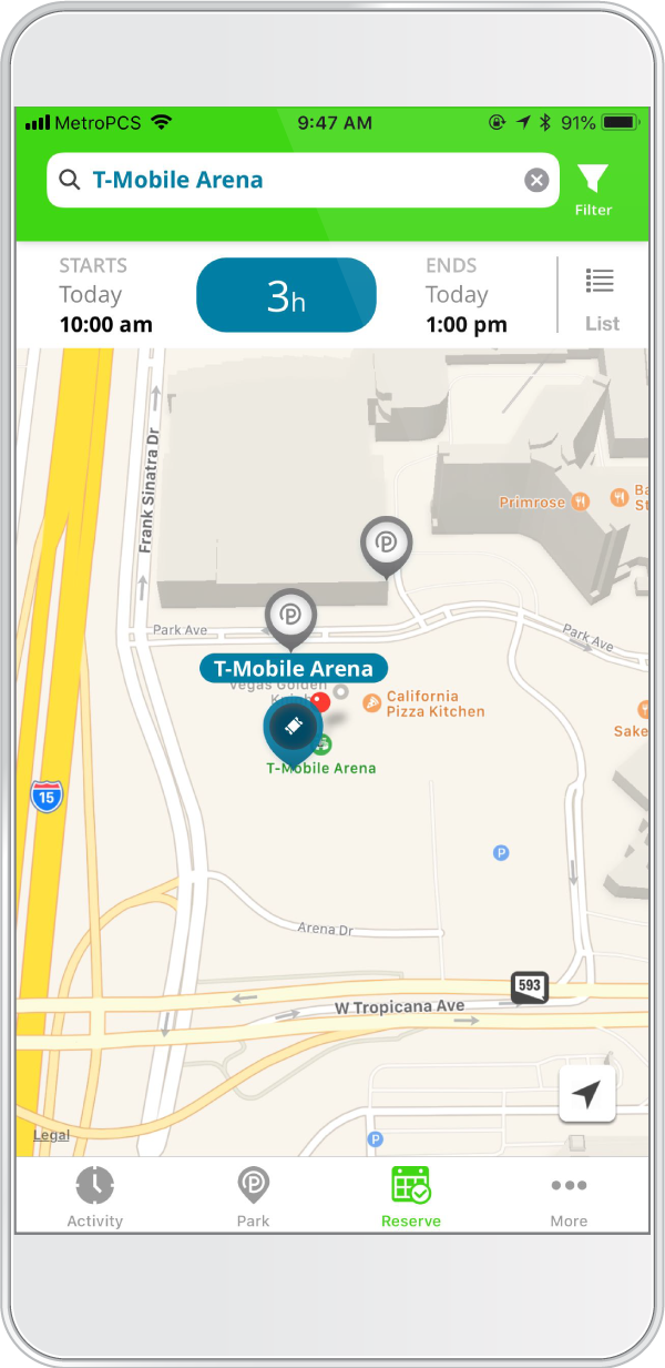 Reserve Parking for Your Next Event at T-Mobile Arena