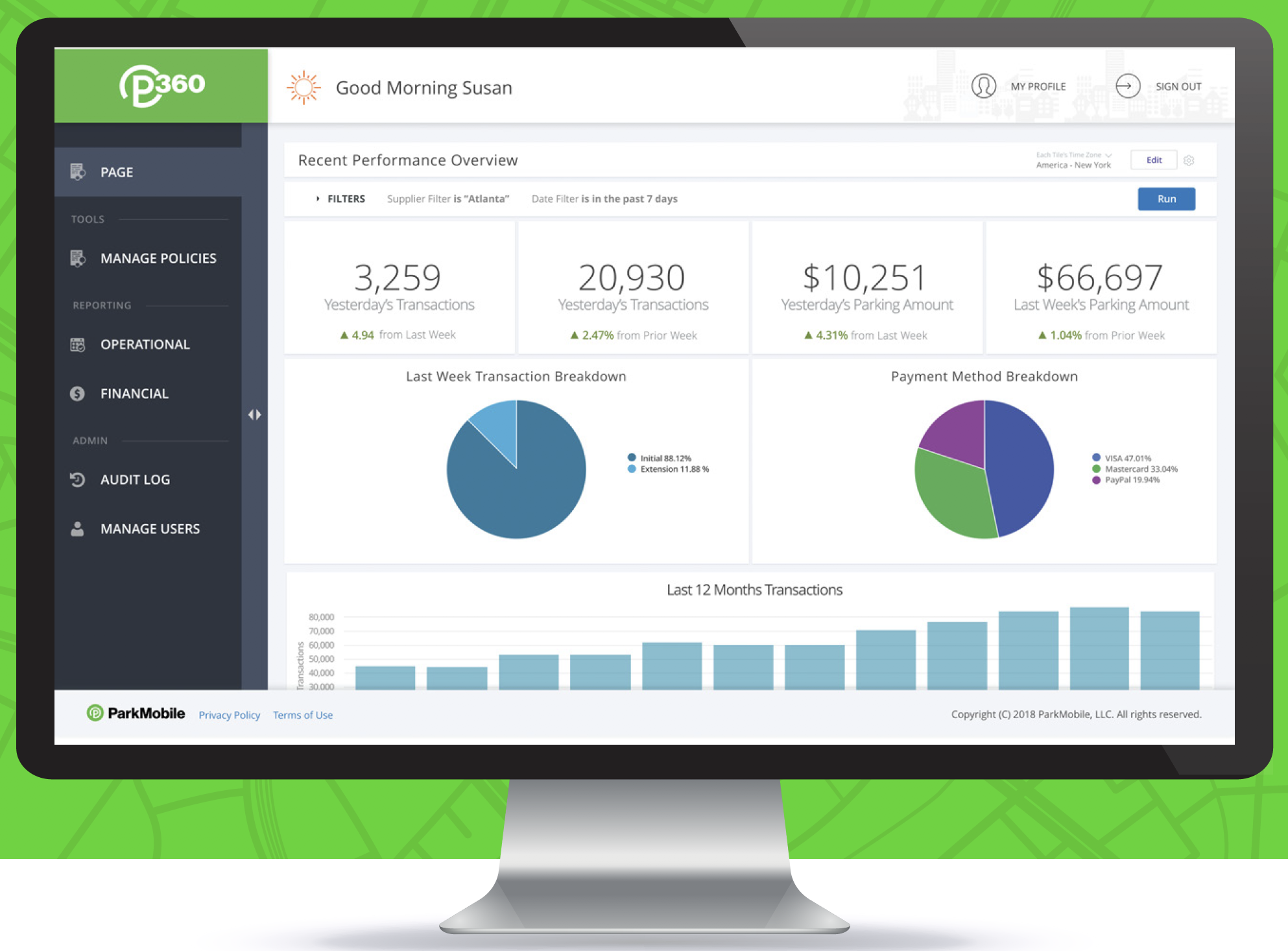 Insights and Analytics ParkMobile 360