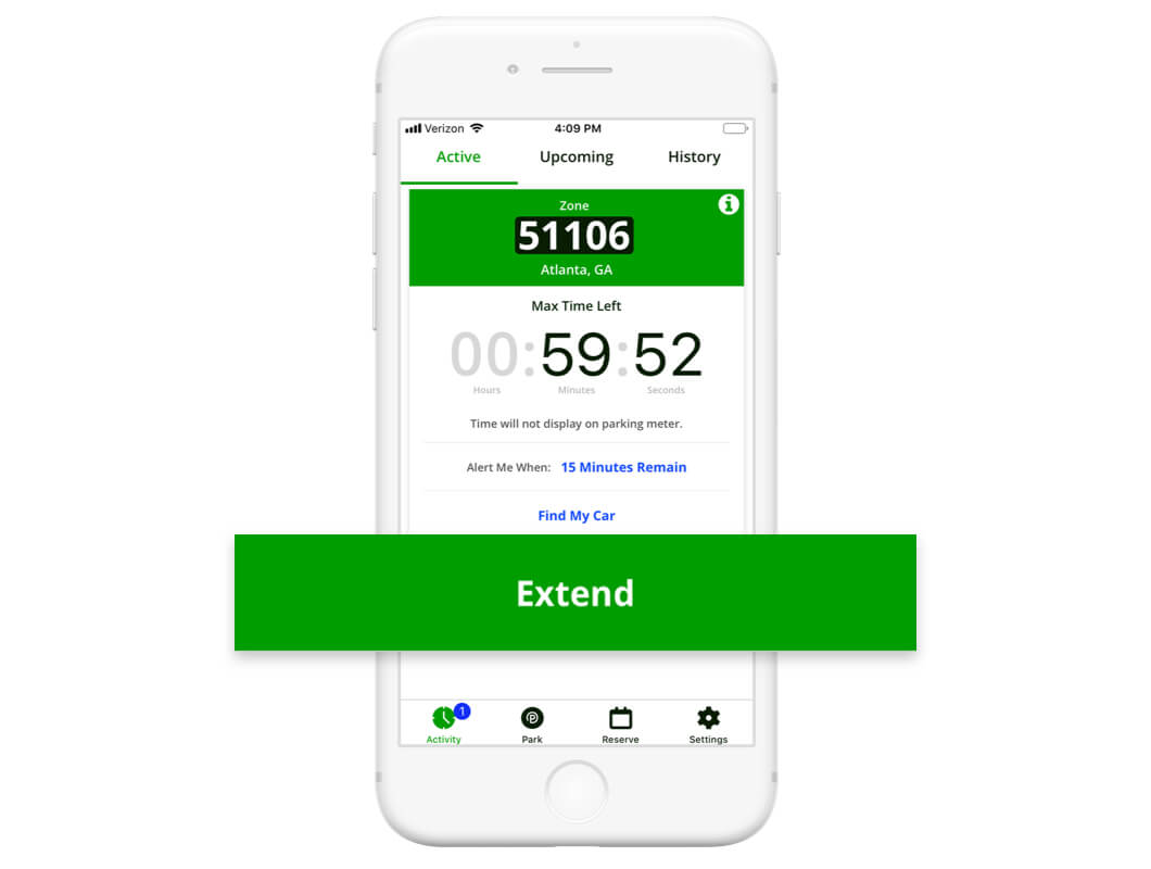 Extend Parking Time with ParkMobile App
