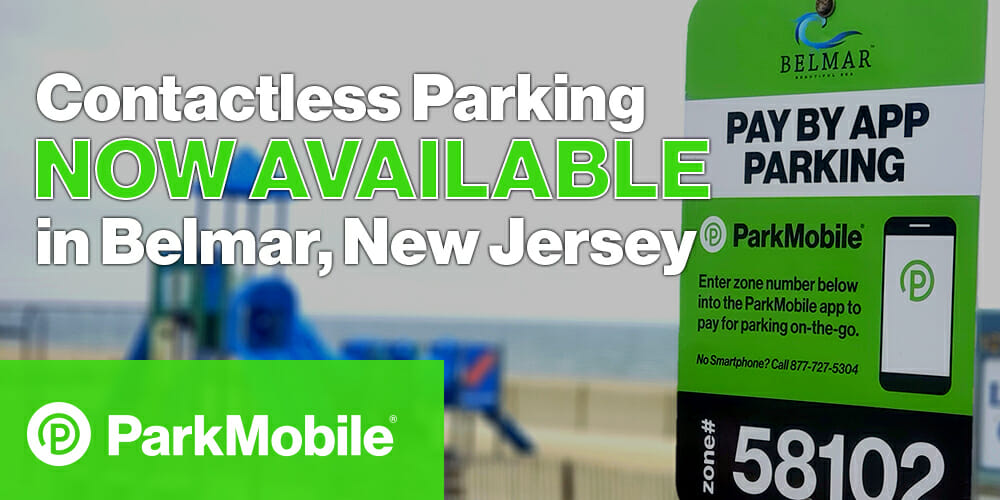 Belmar, NJ Contactless Parking ParkMobile