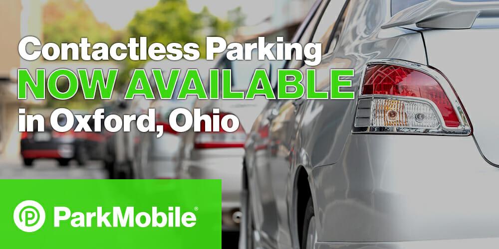 Oxford, Ohio Contactless Parking ParkMobile