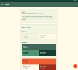 Core UI Custom Basil Theme