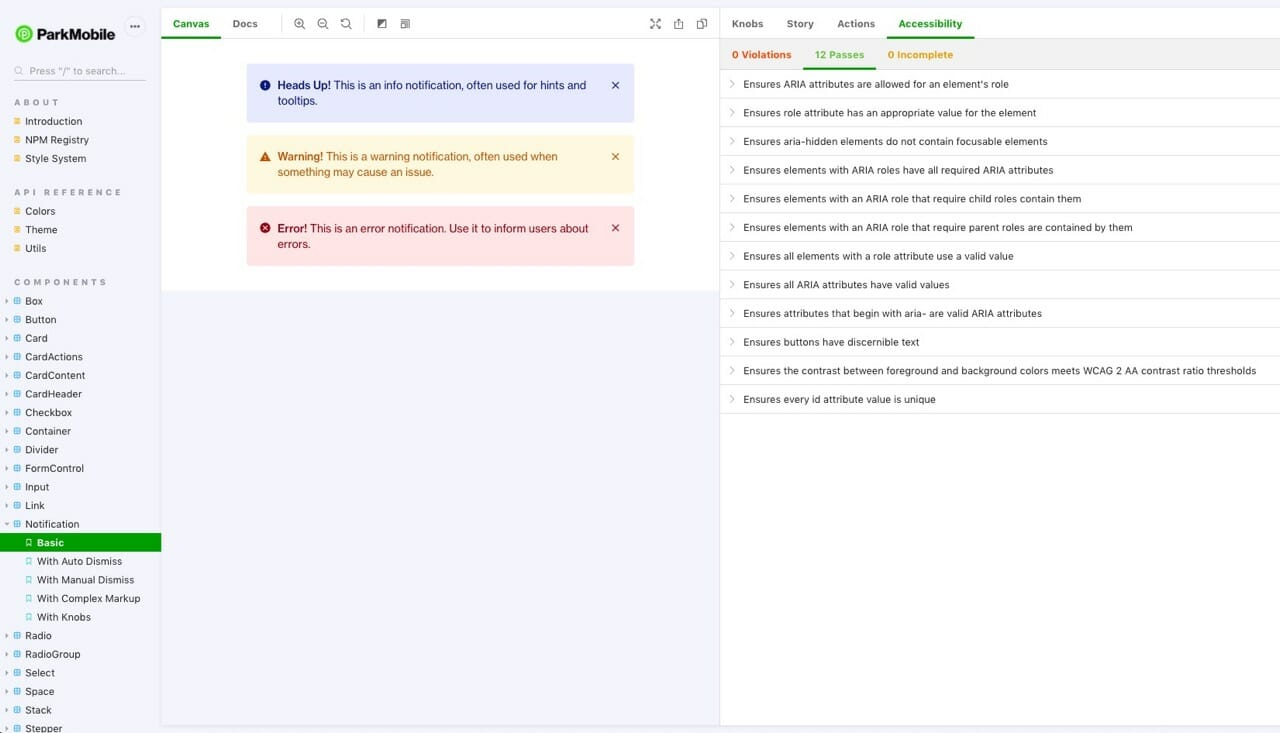 Core UI Accessibility Audit Tool