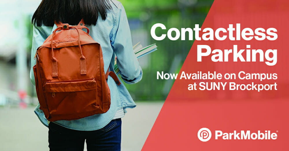 SUNY Brockport Selects ParkMobile as the Official Provider of Contactless Parking Payments on Campus