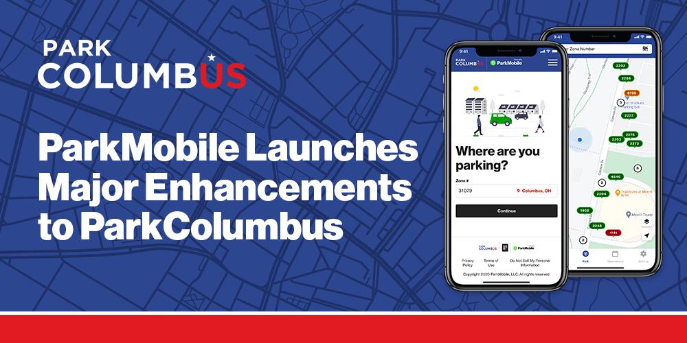 ParkMobile Launches Major Enhancements to the Popular ParkColumbus Mobile and Web Apps