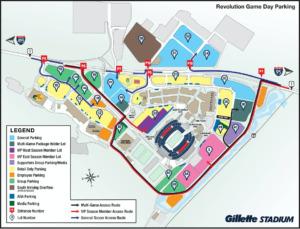 Gillette Stadium Parking Map ParkMobile