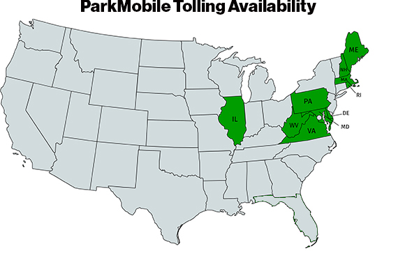 ParkMobile Tolling Locations
